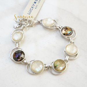 Lucky Brand Abalone Shell Mother of Pearl Bracelet
